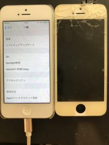 iPhone5画面割れタッチできない小平
